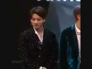 Jungkook doesn't wipe his tears no he YEETS them out of his eyes