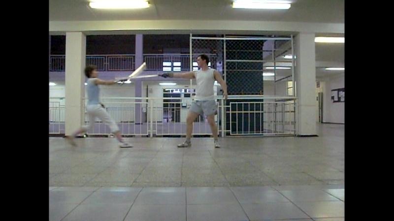 Репетиция показательного номера по Арт фехтованию (Тамара - Антон Андреевич)