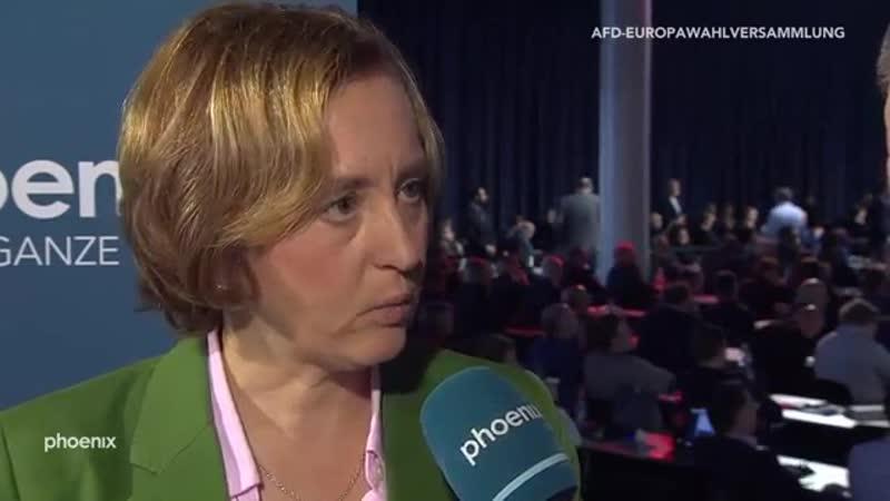 Interview mit Beatrix von Storch AfD bei der Europawahlversammlung der AfD am 18 11 18
