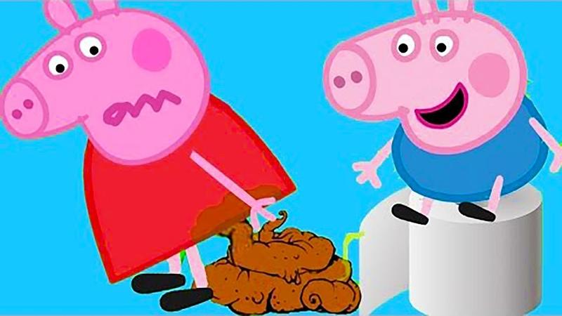 Свинка Пеппа мультфильм У Пеппы закончилась туалетная бумага Пеппа какала в туалете и обкакалась