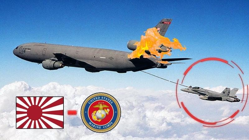 Dois Aviões de Guerra Americanos Batem e Caem Sobre a Costa do Japão.