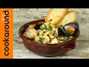 Zuppa di ceci con cozze vongole e gamberi