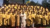 Гимн Украины в исполнении УПЦ (КП) у памятника Владимиру Великому