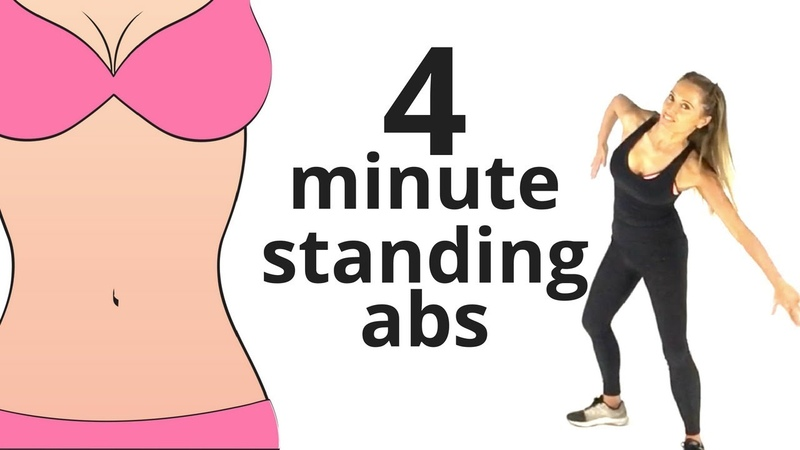 HOME WORKOUT 4 MINUTE STANDING ABS TONE YOUR ABS SHAPE YOUR WAIST EQUIPMENT FREE START NOW
