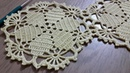 Tığişi Örgü Dantel Motifi Yapımı Yuvarlak Masa Örtüsü, Sehpa Örtüsü Crochet