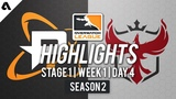 Лучшие моменты Philadelphia Fusion vs Atlanta Reign Stage 1 Week 1 Day 4