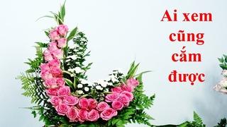 Cắm Hoa Hồng Đẹp |Hoa Hồng ,Hoa Cúc |Cắm hoa bàn thờ 220