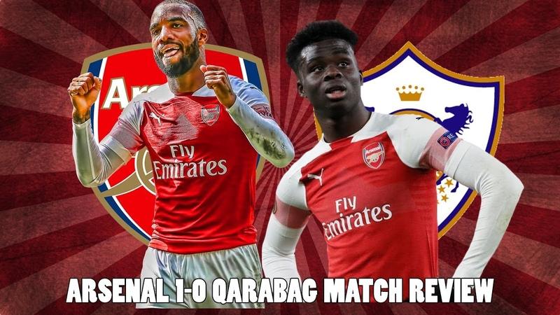 Arsenal 1-0 Qarabag Match Review | Young Arsenal Star Saka Shines