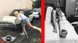 Автокатастрофа Mini Cooper, последствия аварии на Мини Купере, ДТП девушка за рулем