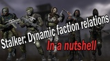 Stalker Dynamic faction relations mod in a nutshell