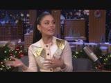 Vanessa Hudgens au Tonight Show de Jimmy Fallon le 10 D