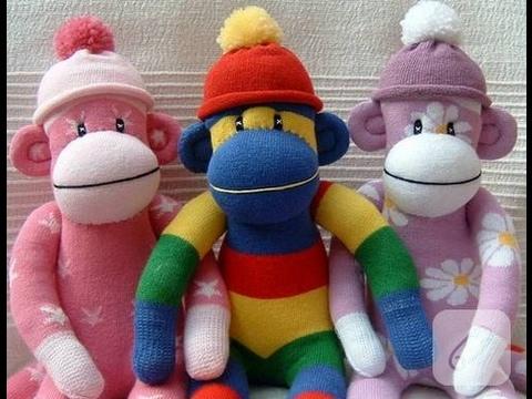 Çoraptan Oyuncak Maymun Yapımı KENDİN YAP DIY Stuffed Toys