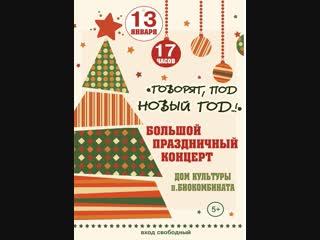 Большой праздничный концерт «Говорят под новый год!»