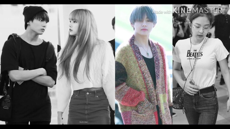 How would Lisa and Jennie(BLACKPINK) Jungkook and V(BTS) sing Blood Sweat and Tears by BTS