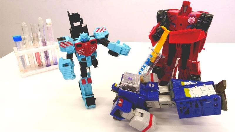 Transformers oyuncakları. Hot Spot hastanede! Çocuk oyunları