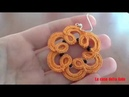 51' TUTORIAL FACILE ORECCHINI PERLINE CHIACCHIERINO AD AGO EASY EARRINGS NEEDLE TATTING FRIVOLITE'