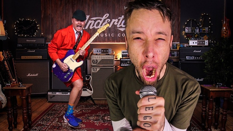 AC/DC - Thunderstruck (metal cover by Leo Moracchioli feat. Peter Honoré)