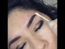 Перманентный макияж бровей в технике напыления