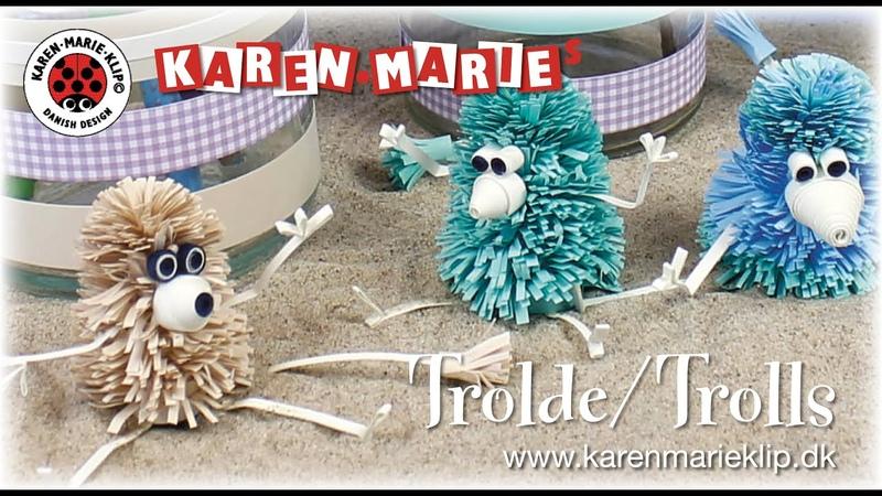 Quilling Paper Trolls Papir Trolde - Karen Marie Klip Papir
