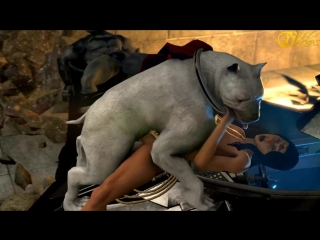 Rule 34 - 3d animated bestiality breasts canine dc dc comics dog female juliojakers krypto large breasts nipples penis pussy rap