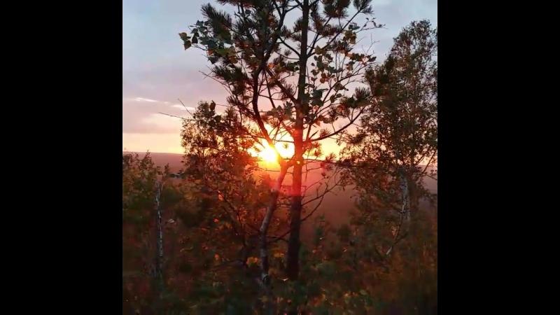 Закат на горе Волчиха