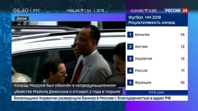 Новости на Россия 24 • Отец Майкла Джексона подверг сына химической кастрации ради высокого голоса