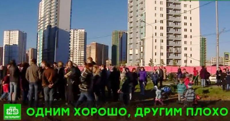 Не хватает школ: жители Новой Охты изложили свою версию конфликта на границе Петербурга и области