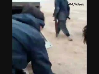 Сирия.2016.Пальмира.Видео попадания ракеты ПТРК в Т-72 шиитского ополчения