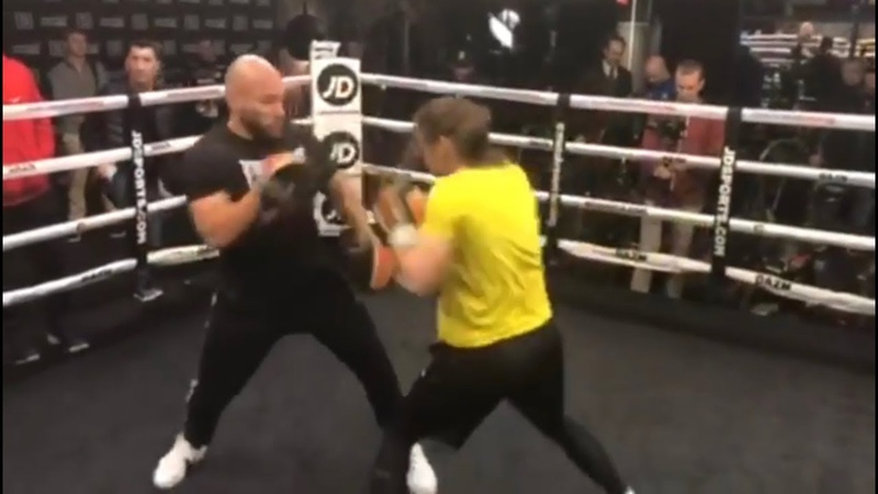 IRISH LIGHTNING KATIE TAYLOR SHOWS HER SPEED BATTERS THE PADS IN BOSTON AHEAD OF SERRANO CLASH