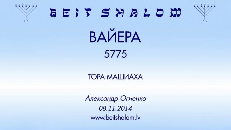 «ВАЙЕРА» 5775 «ТОРА МАШИАХА» А.Огиенко (08.11.2014)