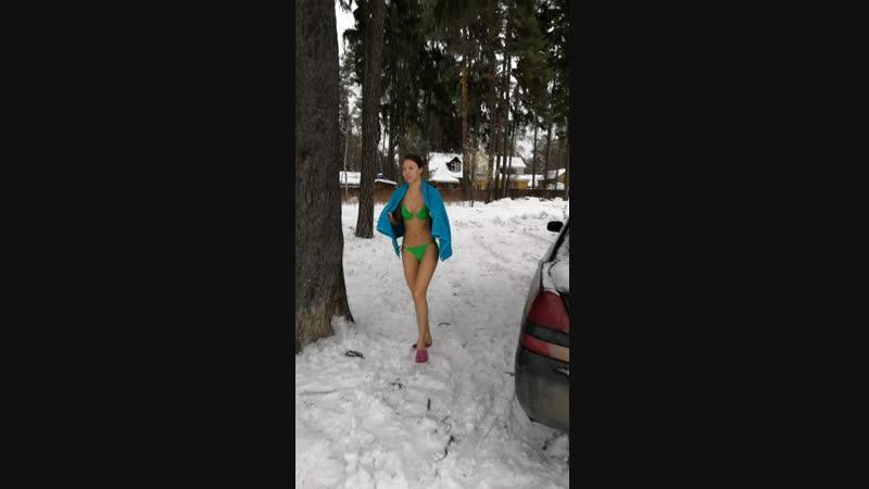 зима купание прорубь кратово 2019