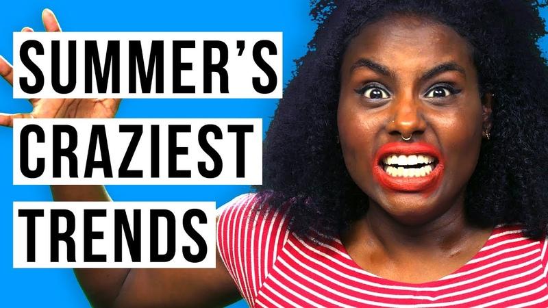 WTF IS GLITTER BOOBS, LOLLIPOP LIPS, LEG CONTOURING? Top 5 Crazy Styles Fringe Binge | HISSYFIT