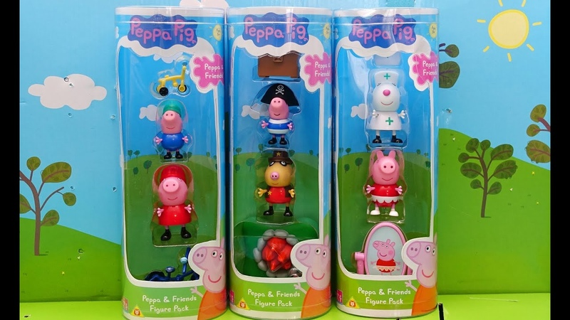 Peppa Pig and Friends. Peppa in English. Peppa Figure Pack New Toys