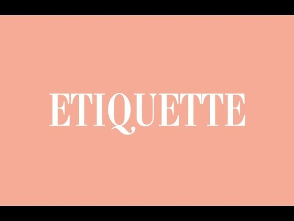 Etiquette спектакль о котором знают двое
