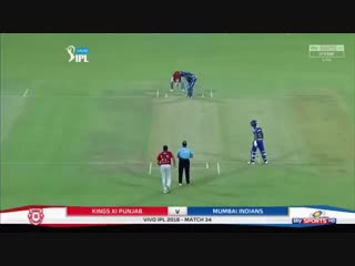 CRICKET, IPL: Mumbai Indians Innings (2nd) - KXIP v MI - May 04, 2018