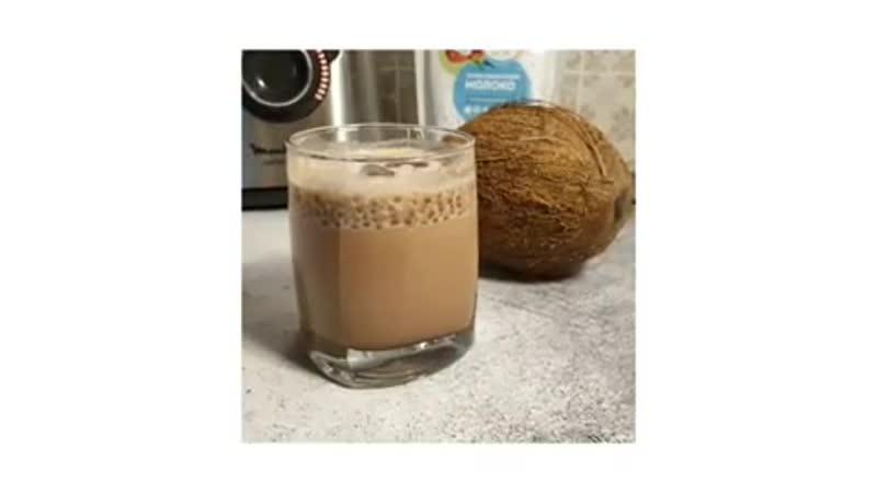 Прохладительный шоколадный напиток на сухом кокосовом молоке