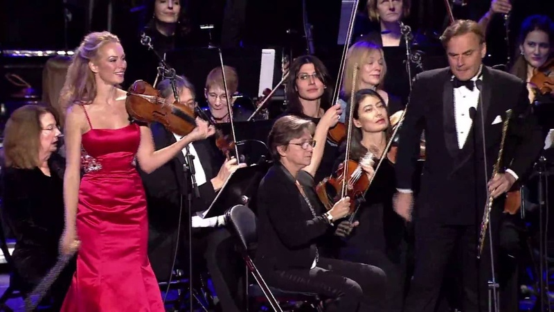 Andrea Griminelli and Caroline Campbell play Borne's Bizet's Carmen Fantasy at Madison Square Garden