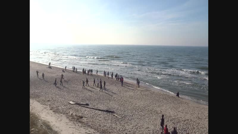 Калининград. Куршская коса. Панорамный вид на Балтийское море.