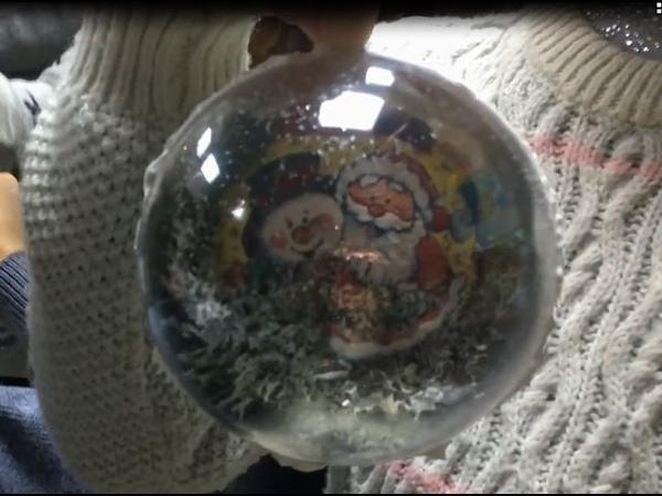 Мастер-класс по декорированию стеклянного шара Новогодний шарик в технике декупаж