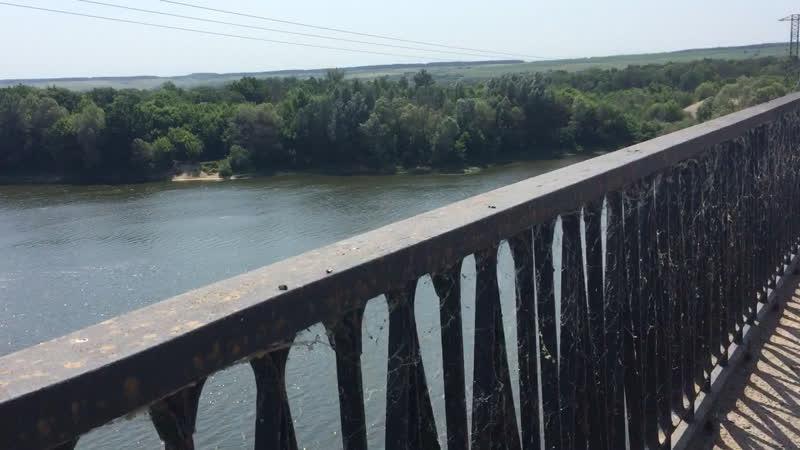 Иду на другой берег Дона через новый мост проезд объезд который открыл совсем недавно