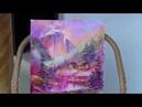 Из Глубин Памяти авторская картина маслом на холсте пейзаж с домиками и горами
