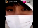 Focus of today's instalive is on his tired but very pretty eyes 허영생