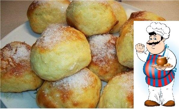 Творожные булочки за 15 минут.