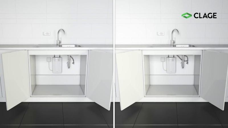 CFX-U – Installation und Montage des E-Kompaktdurchlauferhitzers unter der Küchenspüle