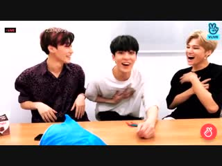 san yunho and wooyoung getting scared by the toy shark; ateez