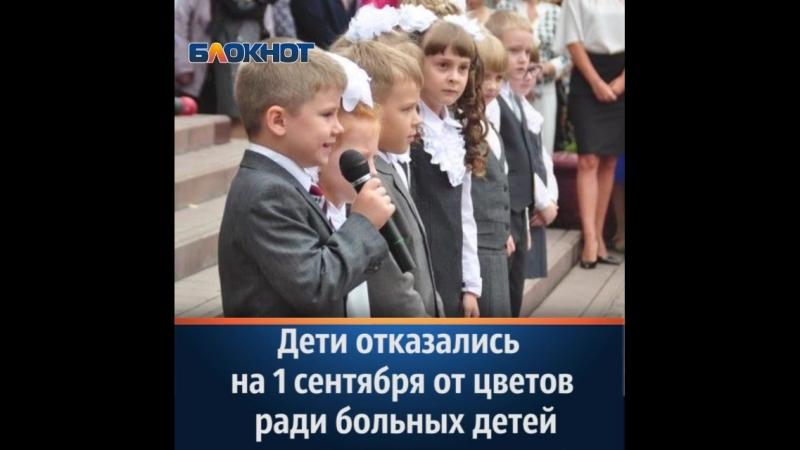 Школьники отказались от покупки букетов на 1 сентября, передав «цветочные» деньги на благотворительность