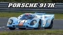 Porsche 917K Gulf Demo laps at Zandvoort 2017 idle revving