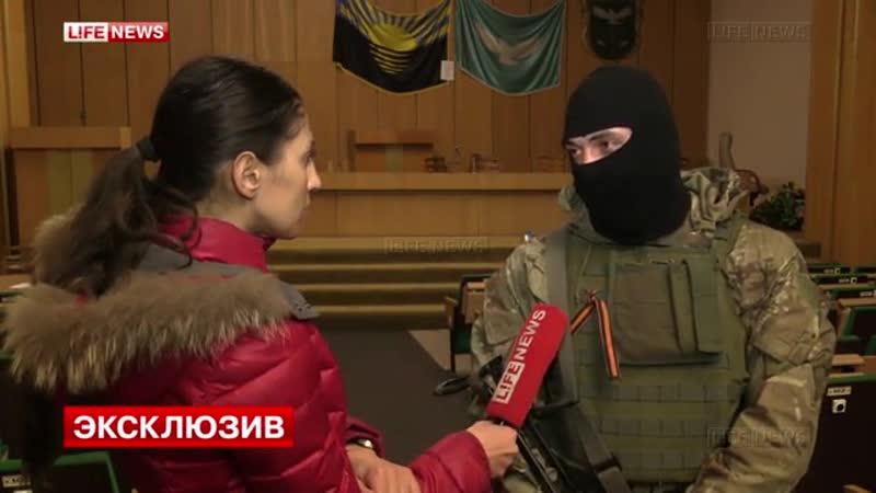 Боец 25-й бригады ВДВ не захотел служить с правосеками. Славянск. 18 апреля 2014-го.