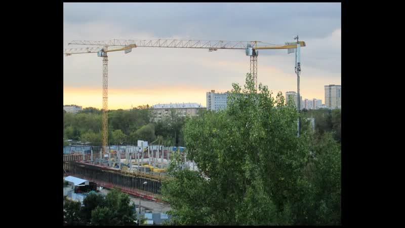 Timelapse строительства кинотеатра София г. Москва (1 этаж монолит)