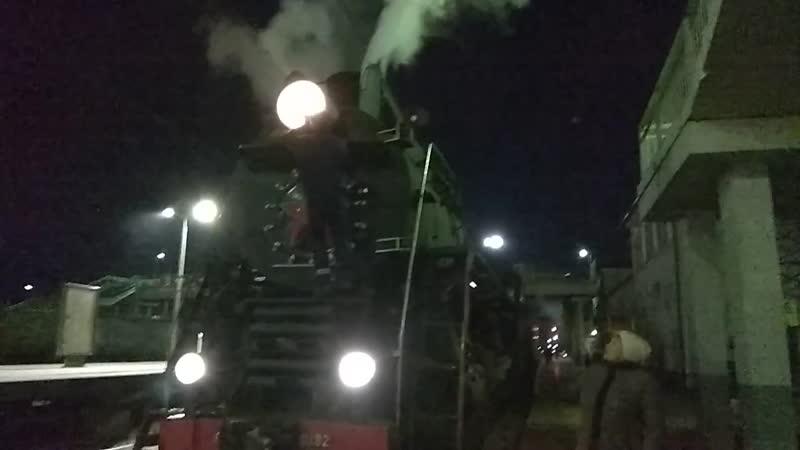 Отправление ретро-поезда 2018г.